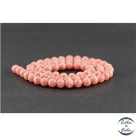 Perles en rhodochrosite d'Argentine - Rondes/6 mm - Grade AA