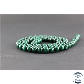 Perles en malachite - Rondes/6 mm - Grade AB