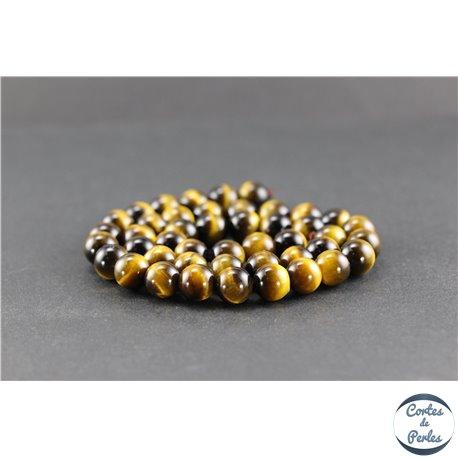 Perles en oeil de tigre - Rondes/8 mm - Grade AAA