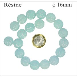 Perles en résine synthétique - Rondes/16 mm - Light green