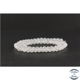 Perles en pierre de Lune - Rondes/4 mm - Grade AA