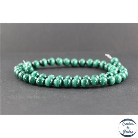 Perles en malachite - Rondes/8 mm - Grade AB