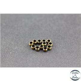 Perles à écraser en laiton - 2 mm - Bronze