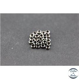 Perles à écraser en laiton - 2 mm - Métal