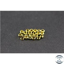 Perles à écraser en laiton - 2 mm - Doré