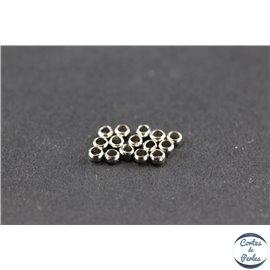 Perles à écraser en laiton - 2 mm - Platine
