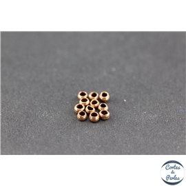 Perles à écraser en laiton - 2 mm - Cuivré