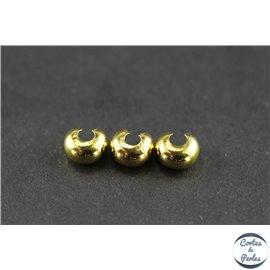 Caches noeud en laiton - 5 mm - Doré