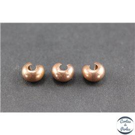 Caches noeud en laiton - 5 mm - Cuivré