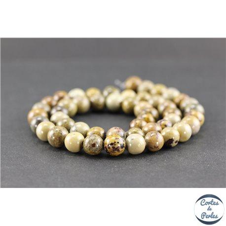 Perles en jaspe dendritique - Rondes/8 mm