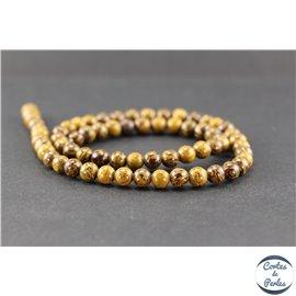 Perles en jaspe éléphant - Rondes/6 mm