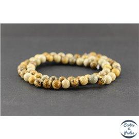 Perles en jaspe paysage - Rondes/6 mm