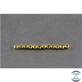 Perles à écraser en laiton - 2,5 mm - Doré