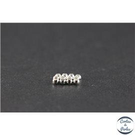 Perles à écraser en laiton - 2,5 mm - Argenté