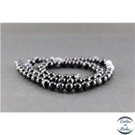 Perles en agate noire - Rondes/6mm