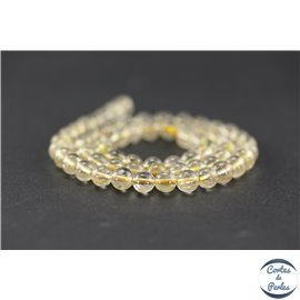 Perles en quartz rutile doré - Rondes/6mm - Grade AB