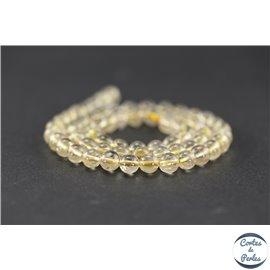 Perles semi précieuses en quartz rutile - Rondes/6 mm - Grade AB