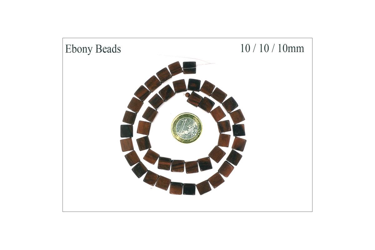 grossiste perles en eb ne cubes 10 mm pas cher. Black Bedroom Furniture Sets. Home Design Ideas