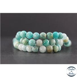 Perles en amazonite - Rondes/6mm