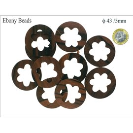 Perles en ébène - Disques/43 mm