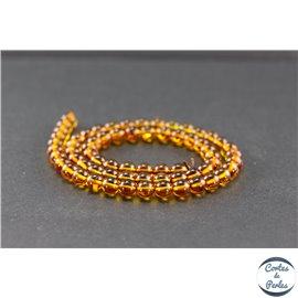 Perles en ambre miel de la Baltique - Rondes/6mm - Grade A