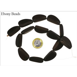 Perles en ébène - Ovales/30 mm