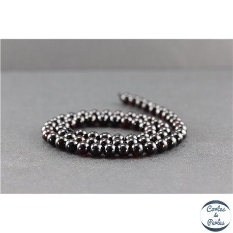 Perles en ambre de la Baltique - Rondes/6 mm - Cerise - Grade A