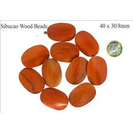 Perles en sibucao - Ovales/40 mm