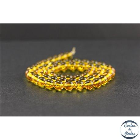 Perles en ambre de la Baltique - Rondes/7 mm - Citron - Grade A