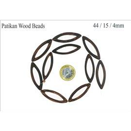Perles en patikan - Ovales/44 mm