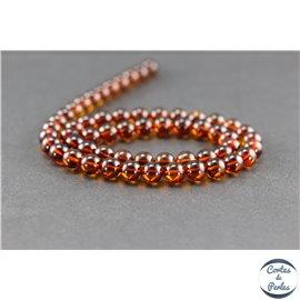 Perles en ambre cognac de la Baltique - Rondes/7mm - Grade A
