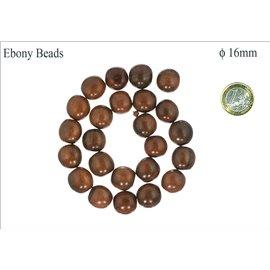 Perles en ébène - Rondes/16 mm