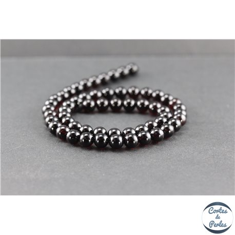 Perles en ambre de la Baltique - Rondes/7 mm - Cerise - Grade A