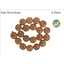 Perles en palmier - Rondes/20 mm