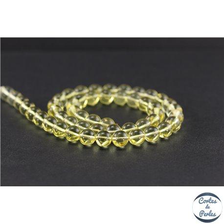 Perles en ambre de la Baltique - Rondes/8 mm - Citron - Grade A