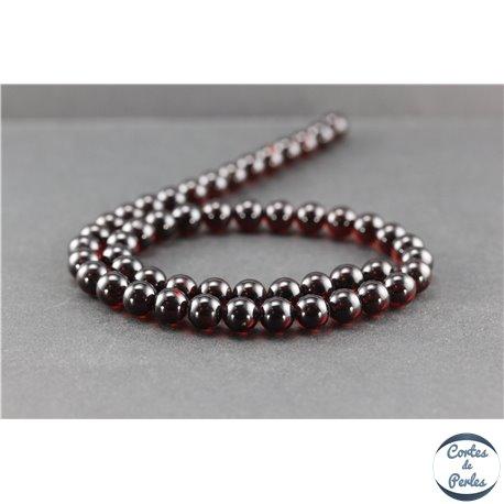 Perles en ambre de la Baltique - Rondes/8 mm - Cerise - Grade A