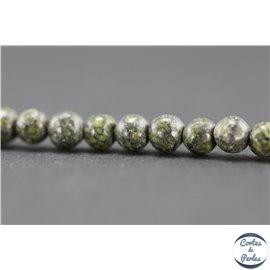 Perles semi précieuses en jaspe - Rondes/4,5 mm - Green lace stone