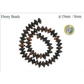 Perles en ébène - Roues/15 mm