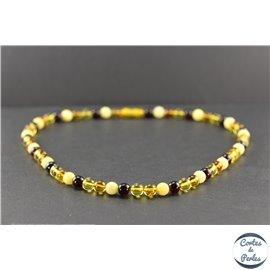 Collier de perles mélangées en ambre de la Baltique - Rondes/7mm - Grade A