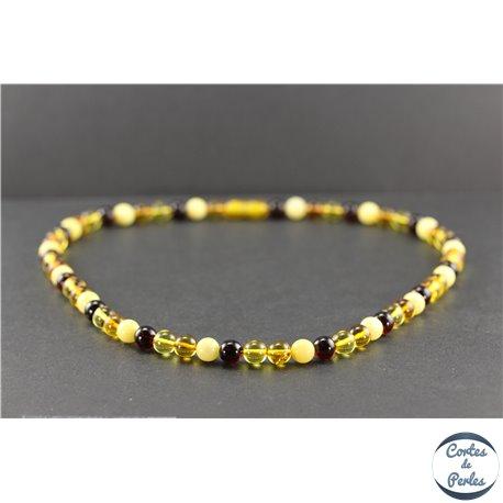 Collier de perles mélangées en ambre de la Baltique - Rondes/7 mm - Grade A