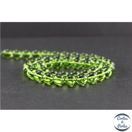 Perles en ambre vert de République Dominicaine - Rondes/8 mm - Grade A