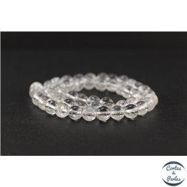 Perles en cristal de roche - Ronde/8 mm