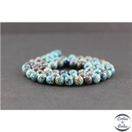Perles en chrysocolle - Rondes/6mm - Grade AB