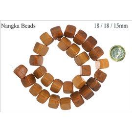 Perles en Bois - Triangle/18 mm - Marron