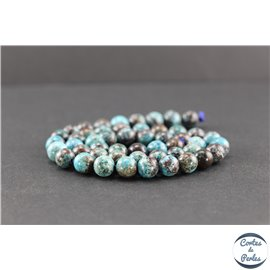 Perles en chrysocolle - Rondes/8 mm - Grade AB
