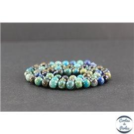 Perles en chrysocolle du Pérou - Rondes/6 mm - Grade A