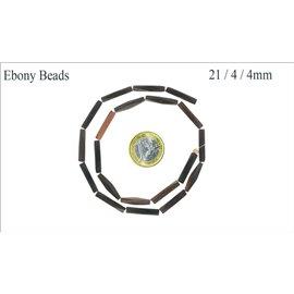 Perles en ébène - Tubes/21 mm