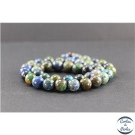 Perles en chrysocolle du Pérou - Rondes/10 mm - Grade A