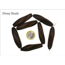 Perles en ébène - Tubes/56 mm