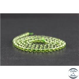 Perles en péridot - Rondes/4mm - Grade AA